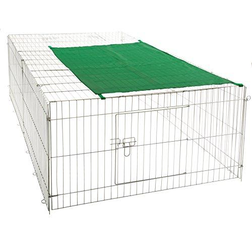 Nager - Freilaufgehege Stahl verzinkt, Hasen, Auslauf, Freigehege, Kaninchen, Nager, Sonnenschutz