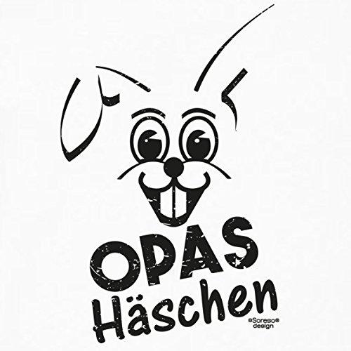 Lustige Damen Oster-Geschenke Idee / Girlie Tshirt mit Hasen Aufdruck Opas Häschen Farbe: weiss Weiß