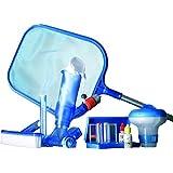 Gre 08050–Kit Piscine autoportante: Kit Test PH/chlore, brosse, Classeur de surface, manche 1,20m (3sections), thermomètre tubulaire, doseur et aspirateur Jet Vac Ventury