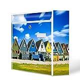 Burg-Wächter Motiv Briefkasten, Stahlblech weiß, MAIL 5877 W Postkasten 36x32x10cm mit Motiv Kopenhagen