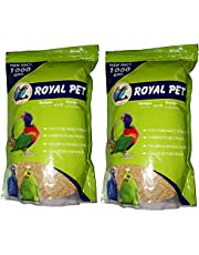 JAINSONS PET PRODUCTS Royal Budgie Foxtail Millet 1000 g Kangni 2 kg Dry Bird Food - Pack of 2
