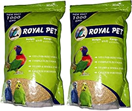 Royal PET Budgie Foxtail Millet 1000g (Kangni | Pack of 2) | Healthy Food for Budgie | 2 kg Dry Bird Food (Pack of 2)