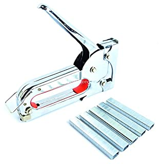 Hyfive Staple Gun Fabric Upholstery DIY Powerful Staple Gun Tacker with 1000 Staples Included
