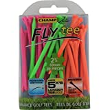 CHAMP Zarma FLYtee, Neon Mixed, 2 3/4-Inch (6-Pack)