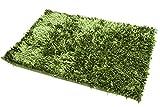 75x150 olivengrün grün designer Teppich Dekoteppich Fußbodenbelag Vorleger Bedeckung pflegeleicht Shaggy