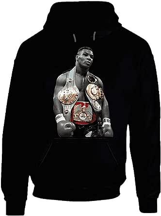 Mike Tyson Three Belts Greatest Fighter Cool Fan Hoodie.