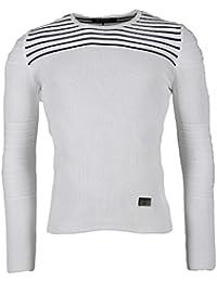 BLZ jeans - Pull blanc avec coudières