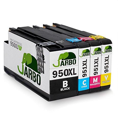 JARBO Compatibles HP 950 XL 951 XL Cartouche d'encre Grande capacité Compatible avec HP Officejet Pro 8600 8610 8620 8630 8640 8660 8615 8625 8100 251dw 271dw Imprimante (2 Noir,1 Cyan,1 Magenta,1 Jaune)