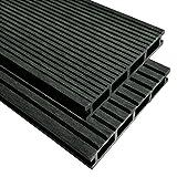 Outdoor WPC Terrassendielen mit Zubehör 10M22,2m anthrazit Wood Plastic Composite Building Boden Fliesen Teppich Deck Board