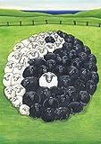 Postkarte A6 ++ 44207 ++ ''Yin & Yang'' von Inkognito ++ Künstler: Martin Scheffler ++ Satire
