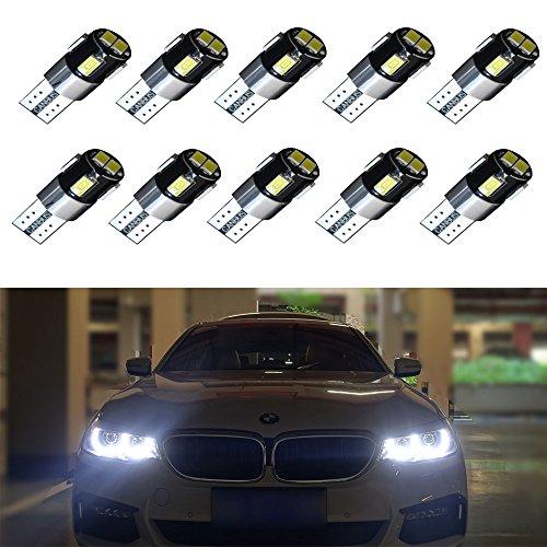 Preisvergleich Produktbild 10pcs Super Bright 194 168 175 2825 T10 LED Bulbs for Interior Car Lights License Plate Dome Map Courtesy Side Marker SMD5630 Chipsets 6000K Xenon White by Wincar