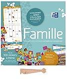 Lot Calendrier Familial septembre 2019 décembre 2020 FAMILLE D'Oxford avec stickers inclus + 1 Règle Marque-Page en bois Blumie