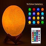 Dinosaurier Lampe Drachenei Licht USB wiederaufladbar mit Fernbedienung 16 Farben Tisch- und Nachttischlampen für Babykinderschlafzimmer große Geburtstagsgeschenke
