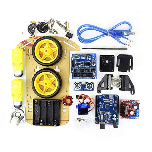 Matthew00Felix R3 SG90 2WD Robot UNO Project Smart Remote Control Car Chassis Kit for Arduino MCU - Kit Remote-control Car