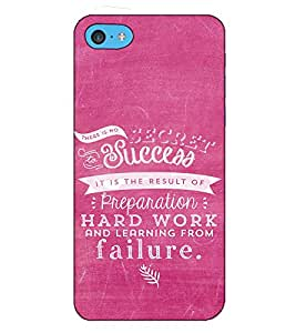 Fuson Designer Back Case Cover for Apple iPhone 5c (There is no success theme)