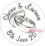 Eternal Design 140 x 25mm Personalised Glossy Wedding White Stickers WDCS 12