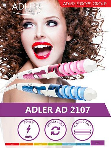 Adler Blue Lockenwickler mit Spiral-Modell-Casin, Mehrfarbig, Einheitsgröße