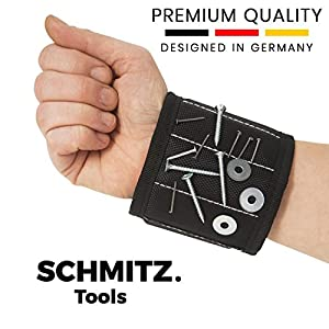 Magnetarmband für Handwerker – Handwerker Geschenke: Magnetisches Armband für Schrauben und Nägel. Beste Baumarkt Geschenk zum Geburtstag - Vatertagsgeschenk - Vatertag – Geschenk für Männer