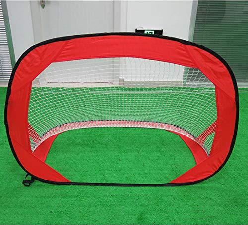 Beneyond Portable Soccer Net Goal, Pop-up-Fußballtor für Kinder, Faltbare Fußballtor, multifunktionale Beach, Outdoor-Kinder Sport Fußball (red) -