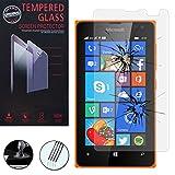 VCOMP 1 Film Vitre Trempé de Protection d'écran pour Microsoft Nokia Lumia 435/435...