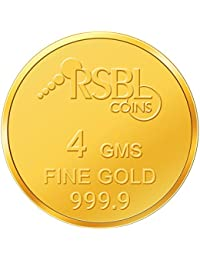RSBL 24K (9999) Yellow Gold Ecoins Precious Coin for Men and Women (4gm)