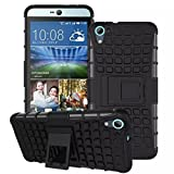 Vegus Kickstand Diffender Cover For HTC One E9s Back Cover in Black Colour
