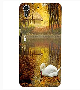 ColourCraft Lovely Duck Design Back Case Cover for HTC DESIRE 626