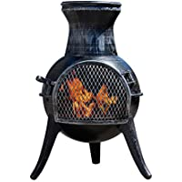 Thompson & Morgan Garden Chimenea Wood Burner Fire Pit Diameter 38 x H68.5cm (Medium)