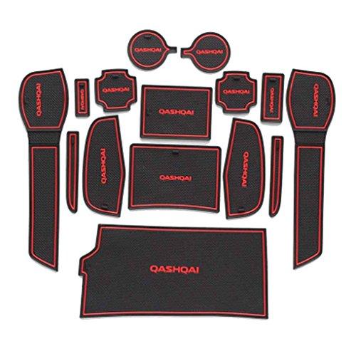 Voiture antidérapante Tapis Coupe Anti Slip Porte Groove Porte Fente Pad Kit Mat pour Nissan Qashqai 2016 Décoration Regard
