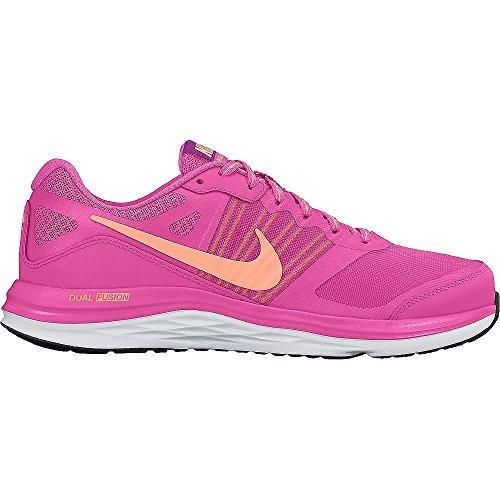 Nike Wmns Dual Fusion X Scarpe da Corsa, Donna Rosa / Naranja / Blanco