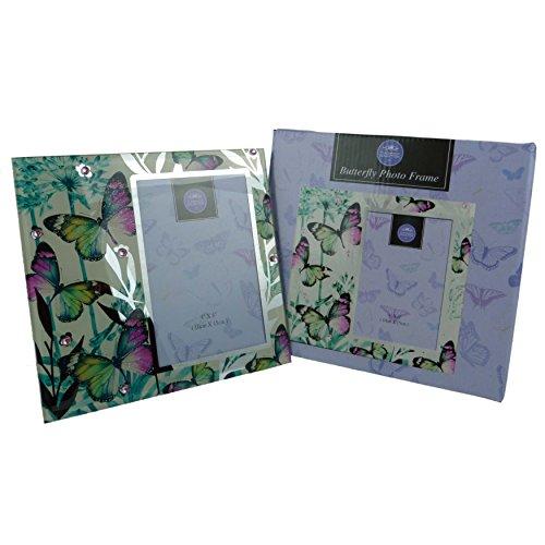 Farbige Schmetterling Bilderrahmen verspiegelt 2Größen von Leonardo Geschenk-Box Mum Nan, Mehrfarbig, 6x4 (Großen, Verspiegelten Bilderrahmen)