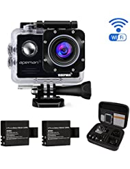 APEMAN Waterproof Action Camera Wi-Fi Action Cam Underwater Sports Camera 1080P 14MP 2.0'' LCD Screen Full HD 170° Ultra Wide-Angle Dual