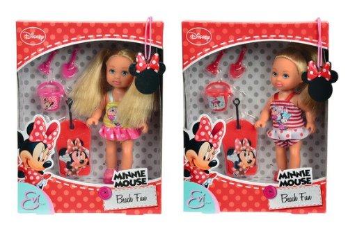 Simba 105740955 - Evi Love Minnie Mouse Beach Fun, 2-sortiert