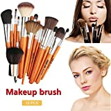 IrahdBowen Makeup Brush Set Professional Fiber Bristle Brush Professional Cosmetic Brush Kit With Foundation Brush Powder Brush Eye Brush 15Pcs Makeup Brush Set