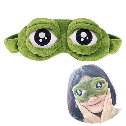 Schlafmaske Augenbinde Augenklappe Kreative Cartoon Frosch Augenmaske Augenabdeckung Flaum Cute Augenmaske