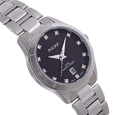 Pulsar Reloj Análogo clásico para Mujer de Cuarzo con Correa en Acero Inoxidable PH7277X1