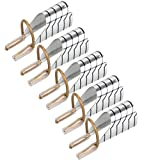 Stencil per unghie | Strato in metallo colore argento prolunga riutilizzabile con fresa | 5 pezzi | Argentati by CASCACAVELLE