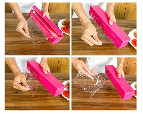 gudhi Küche Frischhaltefolie Spender Frischhaltefolie Werkzeug–Rosy
