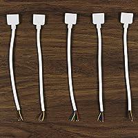 Strip 15cm 5Pin macho llevó la luz del conector del cable de alambre para la tira flexible 5050 RGBW RGBWW Paquete de 5