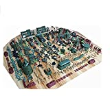 S&T/ 310 set toy soldier World War II military base plastic army boy loves sand table model army by XUTONGW