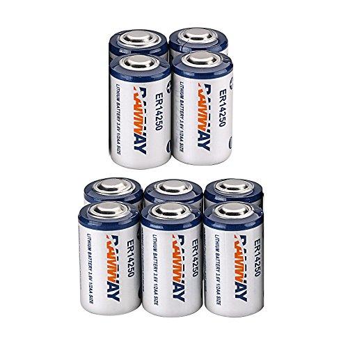 WindMax 10 x Li-ion 3.6V 1/2AA ER14250 LS14250 ER14250H 1200mAh Meter Battery Household Batteries