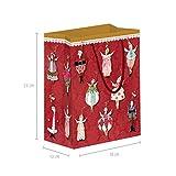 Lot de 3 sacs cadeaux grand format pour Noël en papier, emballage cadeau avec anse, sac cadeau avec fond pour enfants, garçons ou filles, sacs en papier xmas calendrier de l'Avent
