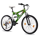 24' KCP VTT VÈLO ENFANT JUNIOR FILLE GARCON PANTHERA FSF SUSPENDU 18 Vitesses...