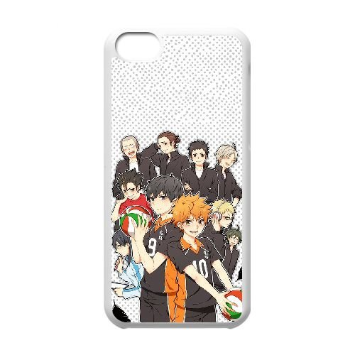 Haikyuu Anime K3D5Ng iPod Touch 6 Fall Hülle Weiß W2W1QT harter DIY Fall hülle