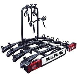 Bullwing - Porte-vélos attelage 4 vélos fixation rapide SR8