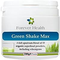 GREEN SHAKE MAX * 100% Biologico Superfood Scossa * GREEN SHAKE MAX è una Proteina a base di erbe Verde Agitare Appositamente Formulati Per una sana ed Equilibrata Nutrita Corpo - GREEN SHAKE MAX è ricco di vitamine minerals & SUPERFOODS Compreso Grano Pre germogliato orzo Spirulina Kelp / alghe Quinoa semi di lino Acai Berry Seagreens - GREEN SHAKE MAX è più di Perdita di Peso Pasto Sostitutivo o Protein Shake