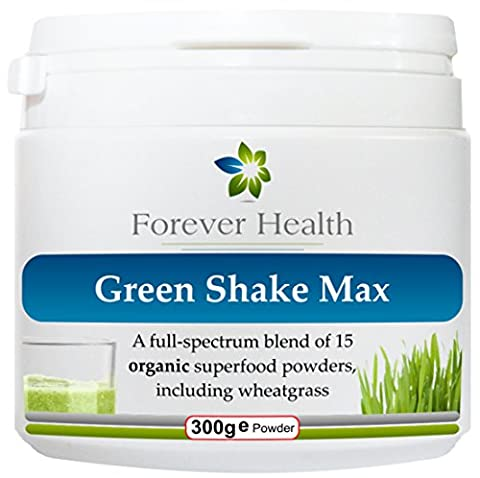 GREEN SHAKE MAX * 100% Organic Superfood Shake * GREEN SHAKE MAX is a Herbal Green Protein Shake Specially Formulated For a Healthy Balanced Nourished Body - GREEN SHAKE MAX is Packed With Vitamins Minerials & SUPERFOODS Including Wheatgrass Pre Sprouted Barley Spirulina Kelp / Seaweed Quinoa Flaxseed Acai Berry Seagreens - GREEN SHAKE MAX is More Than Weight Loss Replacement Meal or Protein Shake , it Contains Essential Nutrients To Make Your Body Fit and Healthy !