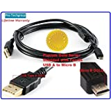 Pro-Techgroup 15 Ft Premium GOLD Grade USB2.0 A To Micro B 5-pin For Digital Camera Camcorder