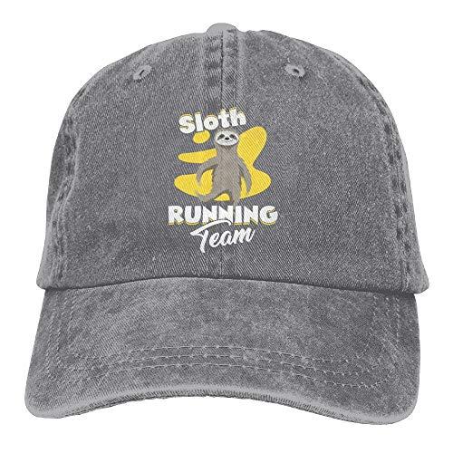 VTXINS Sloth Running Denim Hat Adjustable Men Fitted Baseball Hats - Cap Notre-dame-fitted