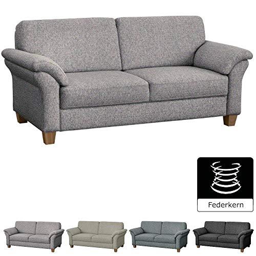 Stil-stoff-sofa-couch (CAVADORE 3-Sitzer Byrum im Landhausstil / Großes Sofa mit Federkern / Landhaus Garnitur / 186 x 87 x 88 / Strukturstoff Mint (bunt))